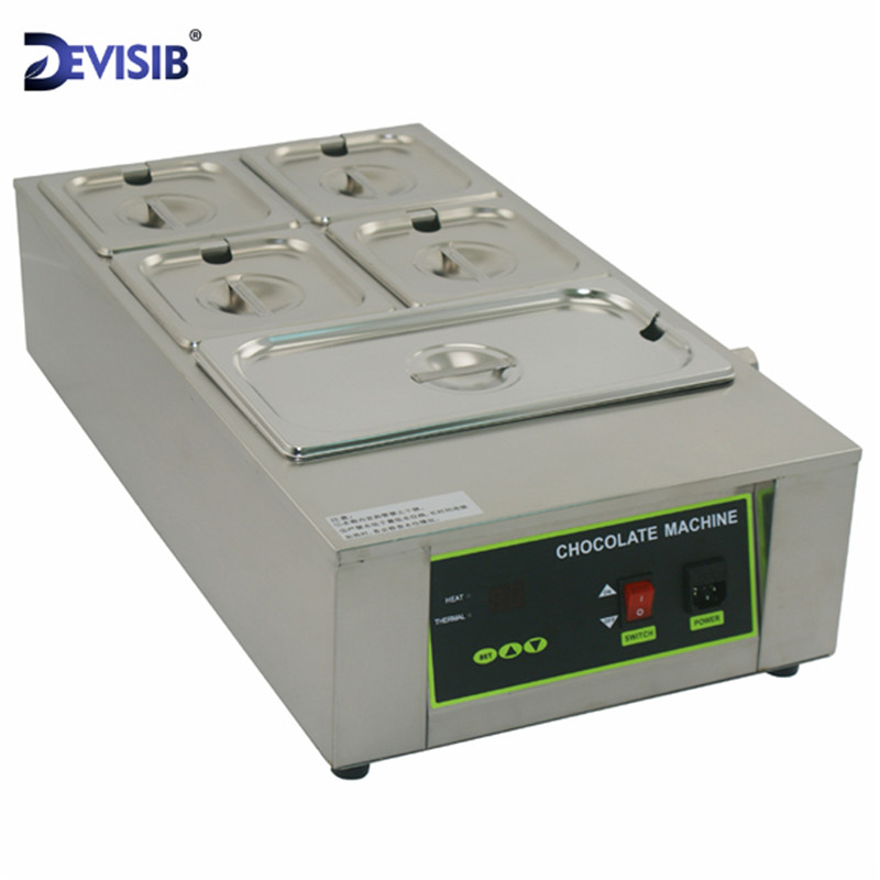 DEVISIB 12kg 5 Lattice Chocolate & Candy Melts Melting Pot Machine Top Quality Stainless Steel 304 Top Quality image
