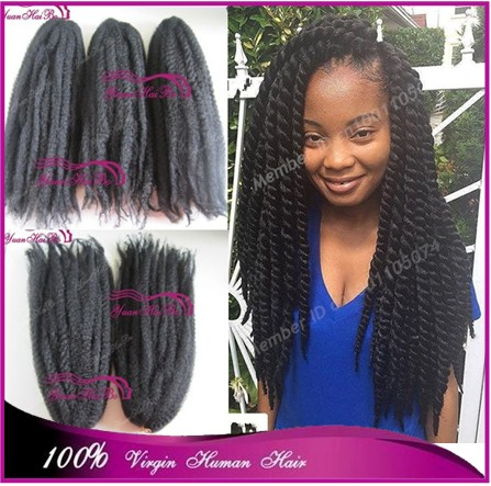 Stock Price 20 Folded Long Afro Twist Synthetic Hair Marley Braiding For Black