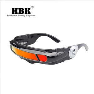 Image 5 - Hbk x man 레이저 사이클롭스 선글라스 디자이너 특수 메모리 재료 편광 된 여행 쉴드 쿨 선글라스 uv400 pc k40021