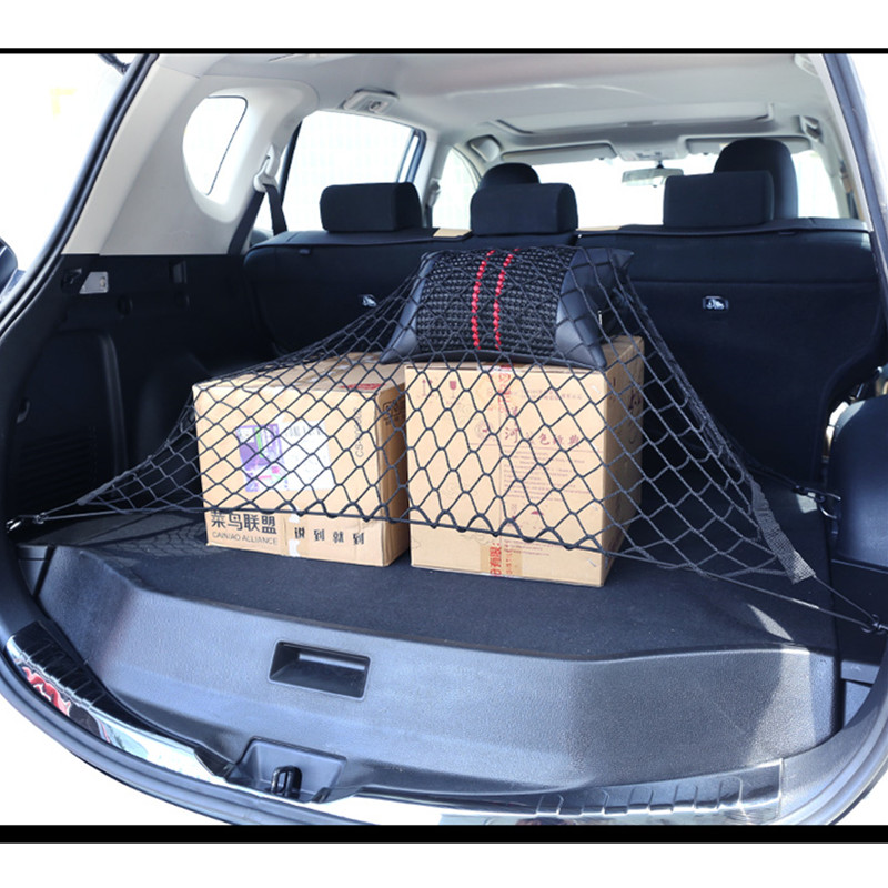 Image 2 - Car Trunk Nets 120 x 70 cm Elastic Strong Nylon Cargo Luggage Storage Organizer Net Mesh With Hooks For Car Van Pickup SUV MPV-in Nets from Automobiles & Motorcycles