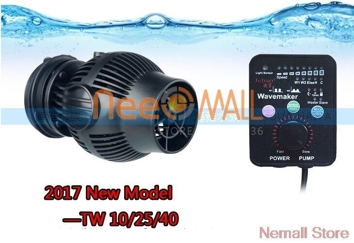 Nouveau Jebao TW série Aquarium vague fabricant TW-10 TW25 TW40 pour récif marin poisson usine réservoir sans fil contrôle maître esclave pompe