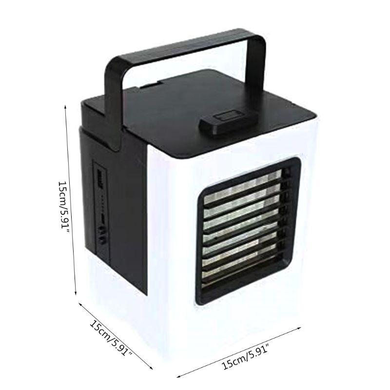 USB охладитель воздуха мини портативный кондиционер вентилятор бесшумный Испарительный Увлажнитель воздуха для комнаты офиса настольная тумбочка