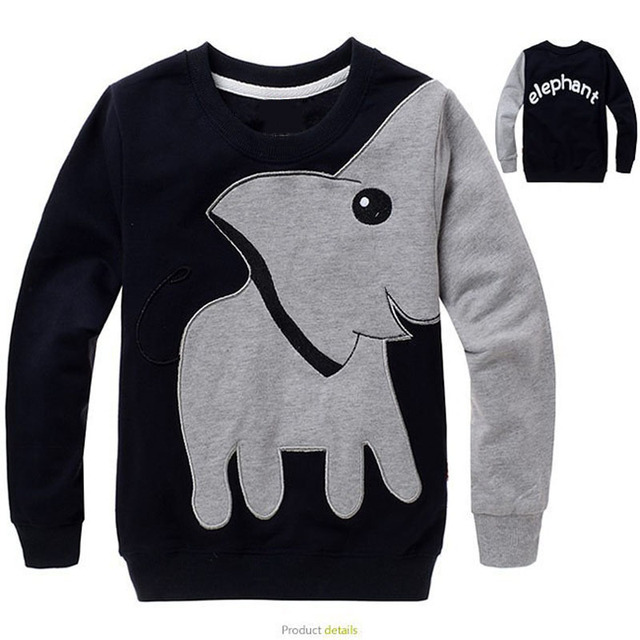 f9d45b25a 2017 Top Quality Children s T-Shirts For Boys Cool Things 3d Elephant Boys  Long Sleeve T Shirts Cotton Kids Clothes 3 4 6 8 10 y
