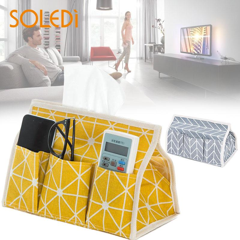 Paper Towel Box Remote Controller Storage Box Tea Table Home Desktop Collecting