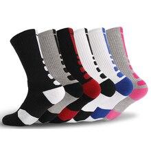 2019 новые высококачественные мужские элитные носки для бега мужские баскетбольные Носки для велоспорта Компрессионные носки хлопковые носки для полотенец мужские носки