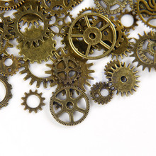 20pcs/Lot Bronze Watch Parts Steampunk Cyberpunnk Cogs Gears DIY JEWELRY CRAFT WB038 P40