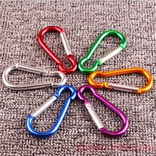 10pcs 77 mmx 37mmx 6.5mm Carabiner climbing Gourd type Aluminum alloy draw carabiner buckle hanging S hook large buckle