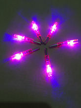Free Shipping 100Pcs Lighted Nock LED Lighted Nock arrow nock for ID6.2mm OD7.6mm carbon arrow shaft bow hunting