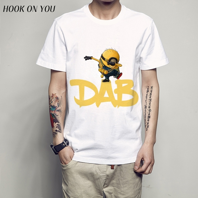 2017 New Arrivals Funny DAB Minions Design T shirt Hipster Tops ...