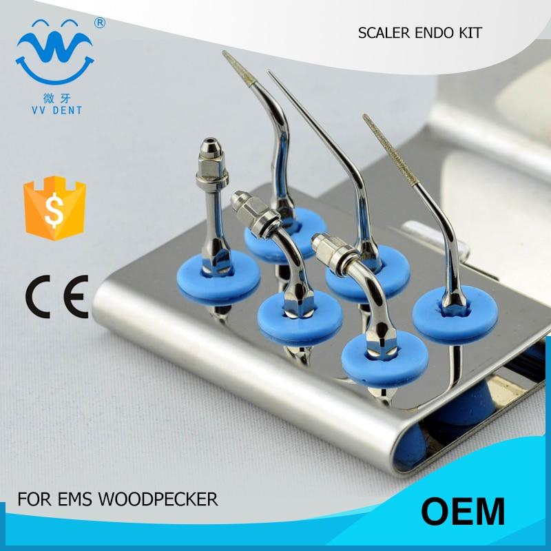 1SET EEKS ENDODONTIC KIT for EMS WOODPECKER  dental instrument dental endodontic root canal endo motor wireless reciprocating 16 1 reduction