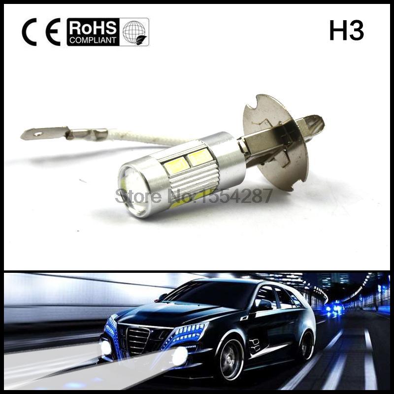 2pcs H3 LED 10SMD 5630 5730 Fog Driving Light Lamp Bulb DRL High Power new arrival a pair 10w pure white 5630 3 smd led eagle eye lamp car back up daytime running fog light bulb 120lumen 18mm dc12v