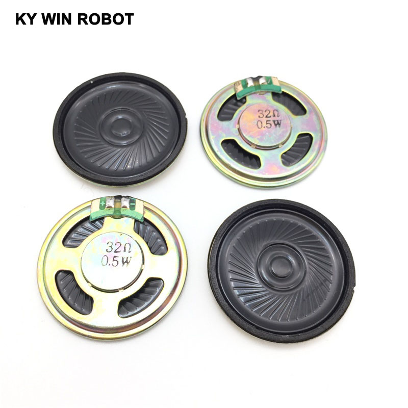 5pcs/lot New Ultra-thin Speaker 32 Ohms 0.5 Watt 0.5W 32R Speaker Diameter 40MM 4CM Thickness 5MM