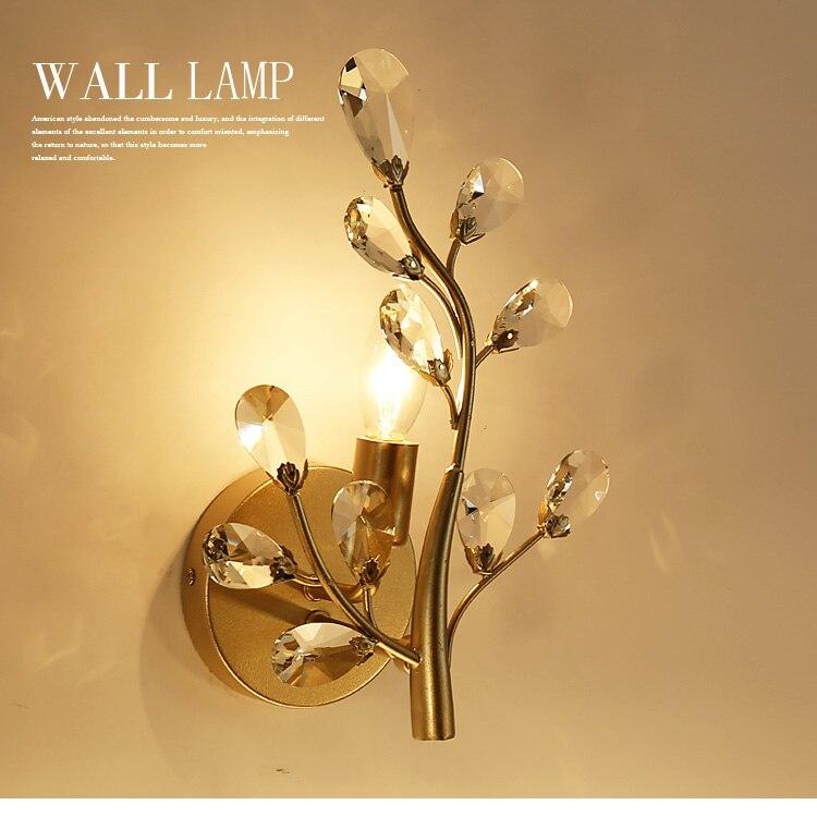 wall led background bedroom tv lighting creative modern living lights bedside aisle lamp crystal lamps