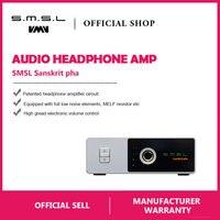 SMSL санскрит Pha HIFI аудио портативный усилители для наушников RCA вход 6,35 мм Jack стерео на Cinch выход серебро