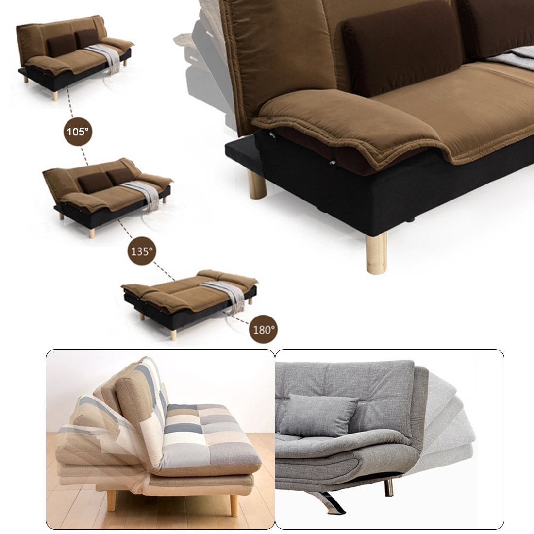 1pair Adjule Sofa Bed 0 Degree 45 75 Angle Mechanism Hinge 230mm Length Connector Hardware In Cabinet Hinges From Home