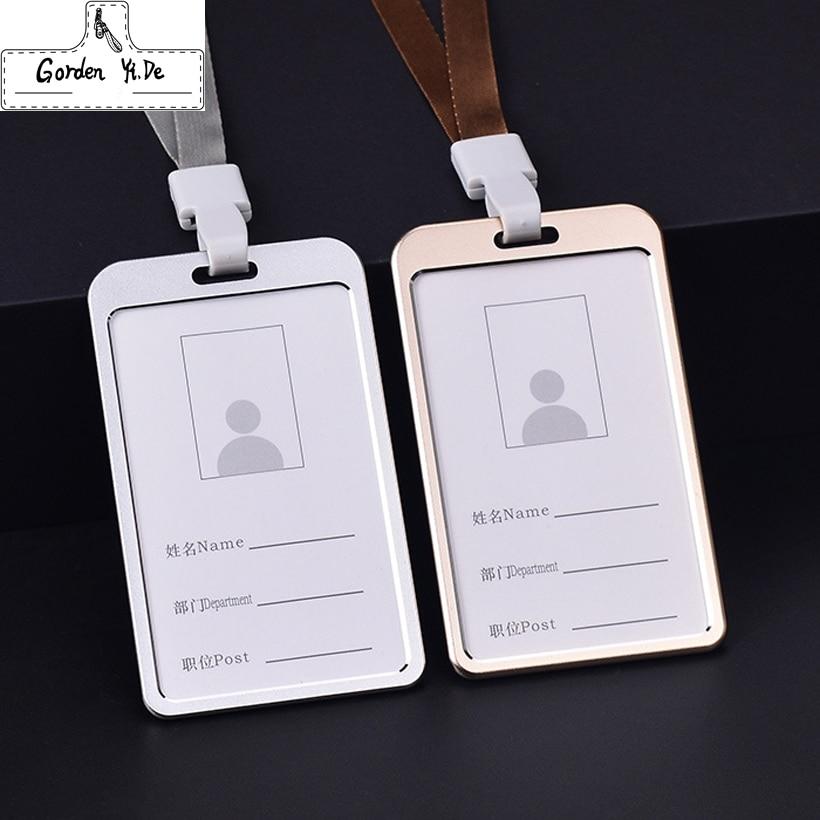 10PCS Top grade Magnesium Alloy Card holder Vertical Business Work ...