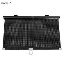 Uxcell 40 см X 60 см черный Выдвижной Автомобиль шторы окна ролик солнцезащитный козырек слепой протектор