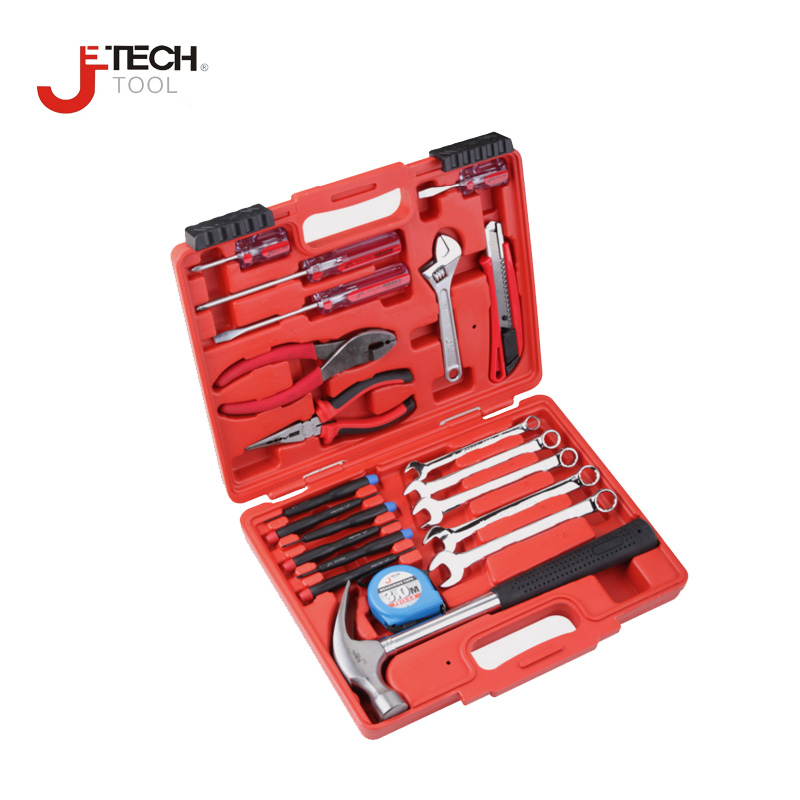 Jetech tool 21pcs/set household tool set diyfix hand tools kit sets outil with case combination wrench precision screwdriver jetech 15pcs 1 2 dr metric socket wrench set with ratchet extention bar 5 inch kit ferramenta car tool sets lifetime guarantee