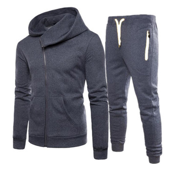Men Set Tracksuits Casual Male Fashion Autumn Spring Winter Male Sweat Suits Jacket Pants Hoodies Sportwear New Brand Two Pieces