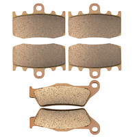 Motorcycle Parts Copper Based Sintered Motor Front & Rear Brake Pads For BMW R1150RT R1150 RT (Integral ABS) 2000 05 Brake Disk