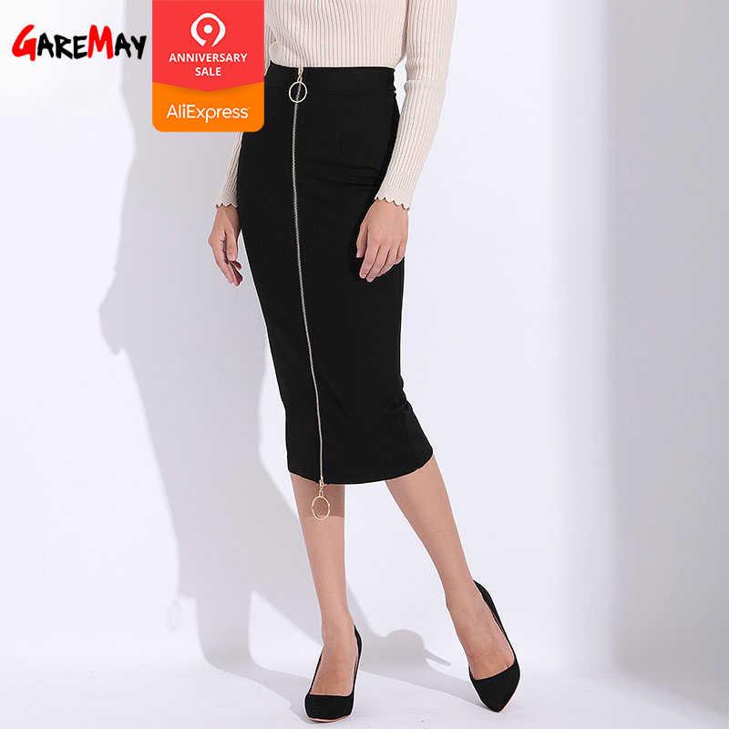 a77247737e9f Women Bandage Skirt Black Long Sexy Pencil Skirts Womens Office Black High  Waist Zipper Slim Ladies