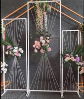 Новый свадебный реквизит проволока Геометрическая рамка экран фоновое Украшение свадебное окно украшение дорожное руководство