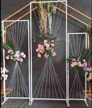 New wedding props wire geometric frame screen background decoration window road guide