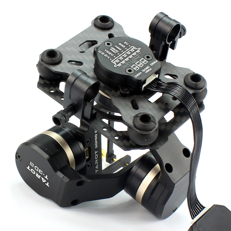 Tarot TL3T01 Update from T4-3D 3D Metal 3-axis Brushless Gimbal for GOPRO For GOPRO4/For GOpro3+/For Gopro3 FPV Photography