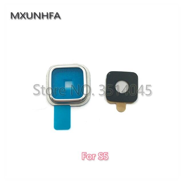 Cámara trasera lente de vidrio anillo cubierta con pegamento adhesivo para Samsung Galaxy S3 S4 S5 S6 S7 borde G900F g920 G925 G930 G935