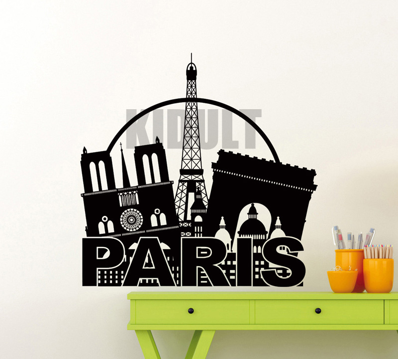 Creative Wall Sticker Eiffel Tower In Paris, France Sign