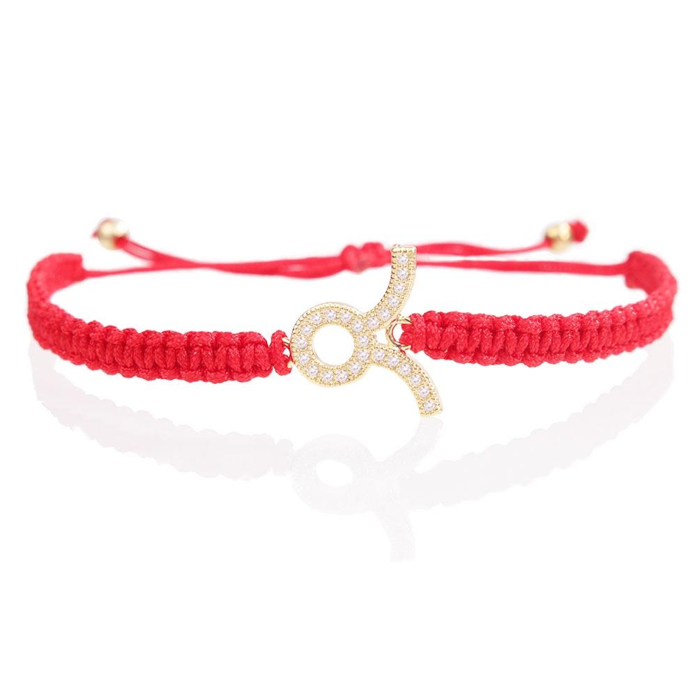 67b0aa8f028f CZ Tauro pulsera de encanto doce constelaciones zirconia suerte ajustable  macamed brazalete cordón pulseira femenina orgullo - a.mytecno.me