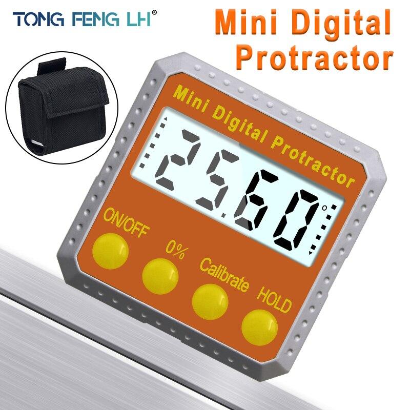 Digital de precisión transportador inclinómetro a prueba de agua nivel caja Digital ángulo de bisel caja con Base magnética
