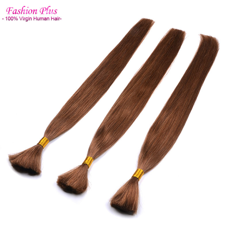 Bulk Human Hair For Braiding No Attachment 18 to 24 inches Braiding Human Hair 1# 2# 8# 613# Human Braiding Hair Bulk No Weft