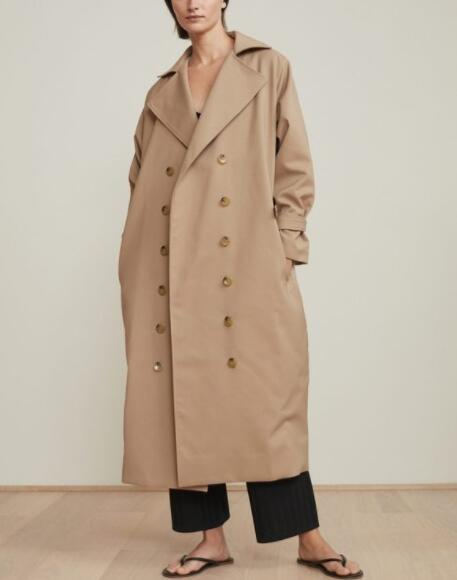 WISHBOP PISA Oversized Long TRENCH COAT Lapel Collar Double Breasted With Pockets Woman Fashion Cotton Trenchcoat 2018 Fall