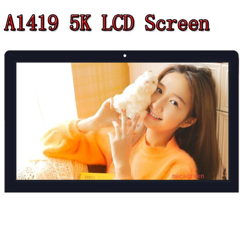 """HOT nouveau original 27 """"A1419 5 K LM270QQ1 SD B1 LCD rétine écran avec assemblage de verre pour iMac fin 2015 MK462 MK472 MK482 EMC 2834"""