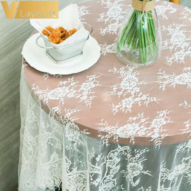 110x150 Cm Bruiloft Tafelloper Wit Kant Tafelloper Bloemen Tafelkleed Boho Bruiloft Tafel Decoratie Thuis Textiel Rijk En Prachtig