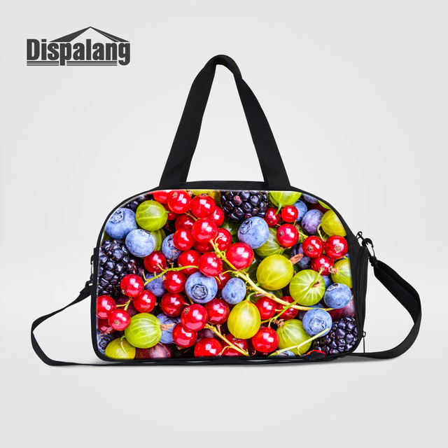 Dispalang Women Fashion Travel Bag Duffle Bags Fruits Printing Ladies  Summer Carry On Luggage Bags With d6ac146da5