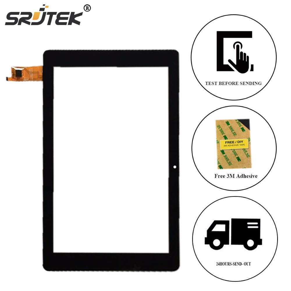 Srjtek 10.8 For Chuwi HI10 Plus Hi 10 Touch Screen Digitizer Glass Panel Sensor Tablet PC Repair Parts Black Replacement for yld cega696 fpc a0 10 1 inch 51 pin new black touch screen panel digitizer sensor repair replacement parts 250 150 5mm
