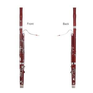 Image 2 - Ammoon C キーファゴットカエデ材ボディ白銅シルバーメッキキー木管楽器リード手袋キャリングケース