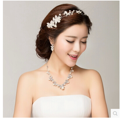 Pearl Jewelry White Hair Accessories Wedding Reception Decorations