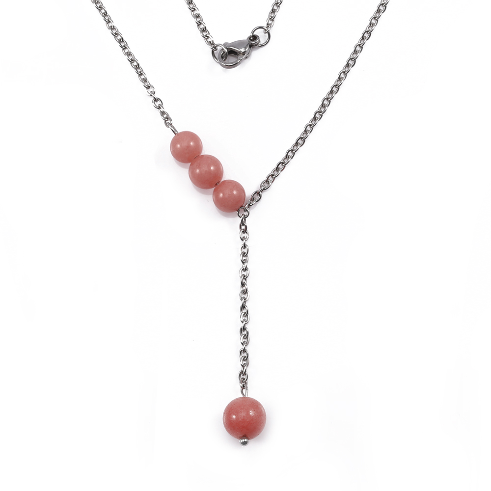 TL Simple Red Beads Pendant Necklace Set Romantic Necklace For Couples Valentine's Day Birthday Gift For Best Friend