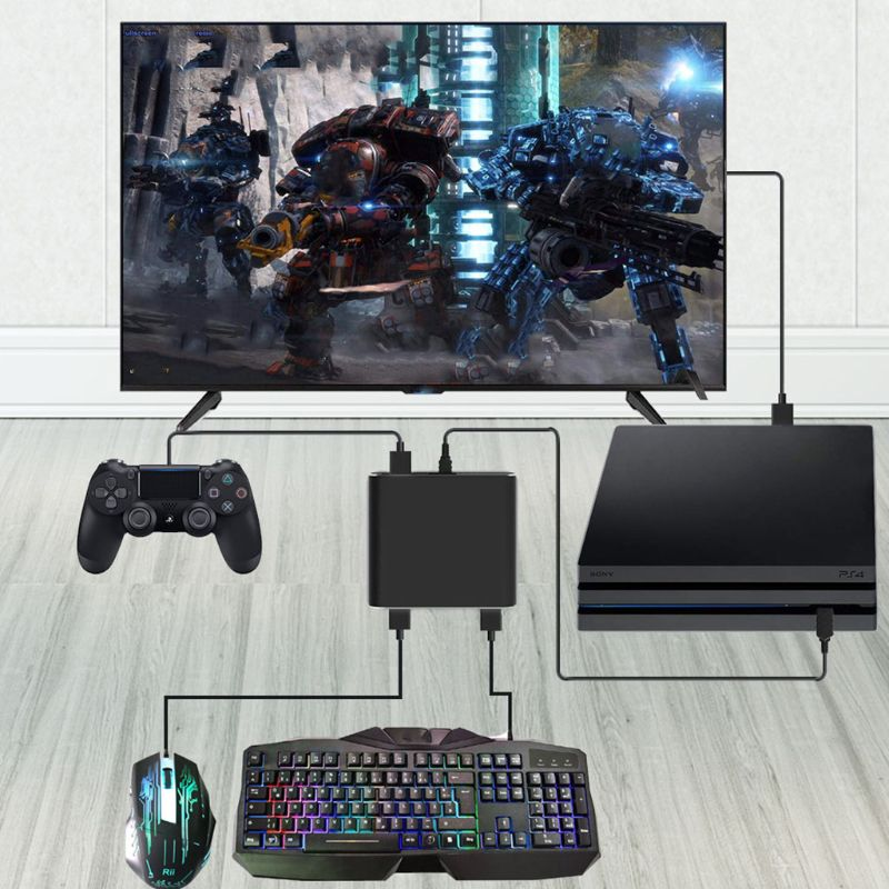 Keyboard Mouse Mice Conversion Receiver For XBOXONE PS4 Switch Host Plug And Play Receiver Adapter Converter Device