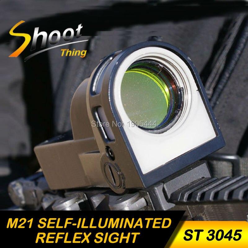 ST 3045 Shoot Thing NEW Arrival M21 Self Illuminated Reflex Sight Sensitive Night Vision Airsoft sight Red Dot Hunting Scope цена и фото