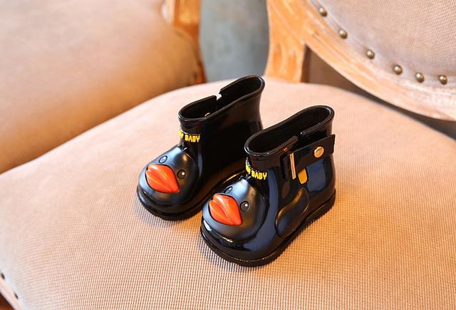 11.8-19.8cm Mini Sed duck pattern design Girls Rainboots Jelly Shoes Boys  Rain Boots Short Water Shoes Children Boots 14983c9c0f91