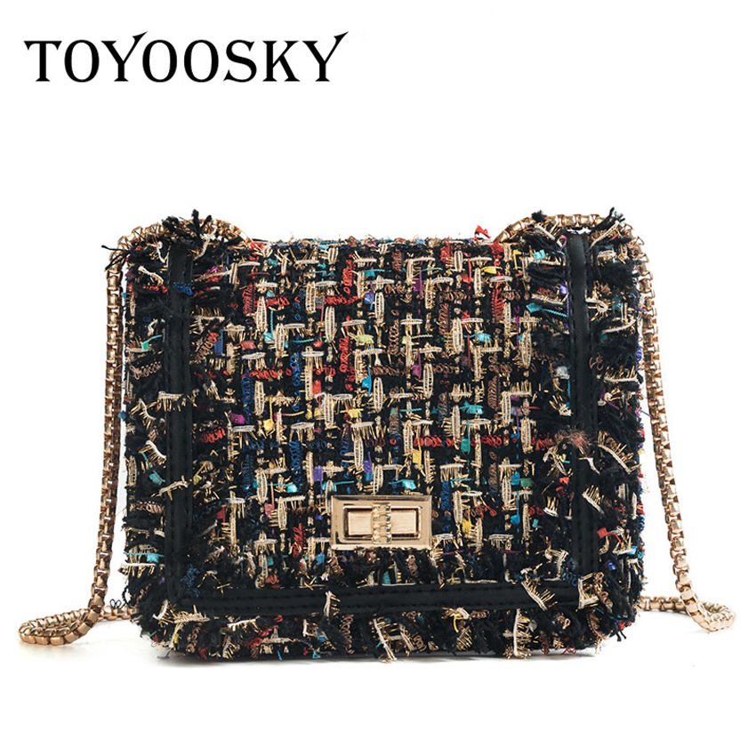 TOYOOSKY Brand Crossbody Bags For Women 2018 Winter Luxury Handbags Designer Small Women Messenger Bags Wool bolsa feminina недорго, оригинальная цена