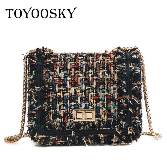 TOYOOSKY Brand Crossbody Bags For Women 2019 Winter Luxury Handbags Designer Small Women Messenger Bags Wool bolsa feminina