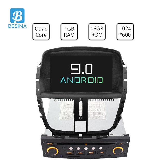 Besina 1 Din Android 9.0 Car DVD Player For Peugeot 207 207CC 2007 2008 2009 2010 2011 2012 2013 2014 WiFi Radio GPS Multimedia