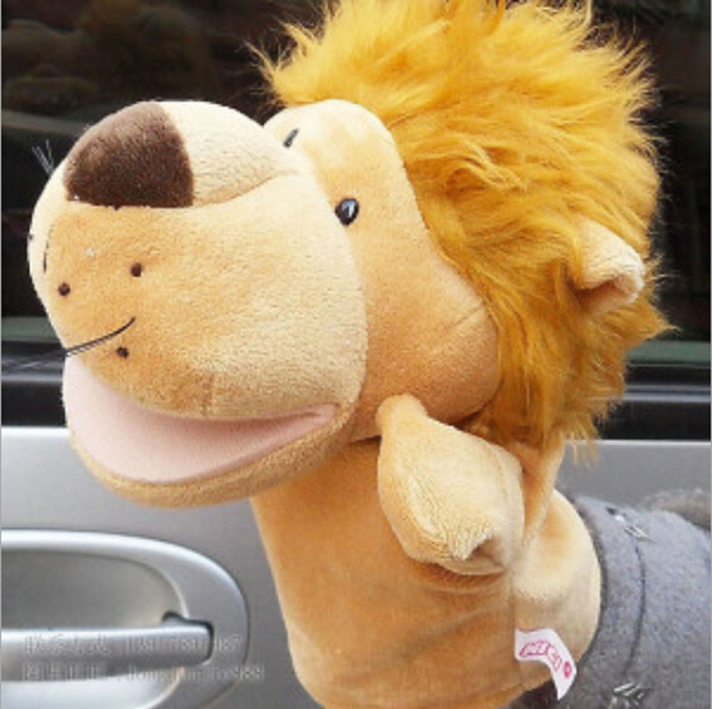 Classic Cute Carton Animal Hand Puppet Toys Plush Puppets Frog Pig Rabbit Tiger Monkey Bear Lion Doll Baby Toy Animals Toy