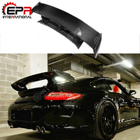 For Porsche 911 997 GT3 RS (Portion) Carbon Fiber Rear Trunk With Spoiler FRP EPR Deck Spoiler Lip Replacement For 911 997