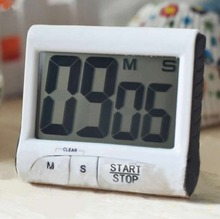 E74  New Large LCD Digital Kitchen Timer Count-Down Up Clock Loud Alarm White 1 999999 x1 x10 x100 count up down digital counter relay ac 100 240v